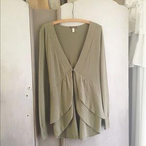 pretty olive green layered Susina sweater